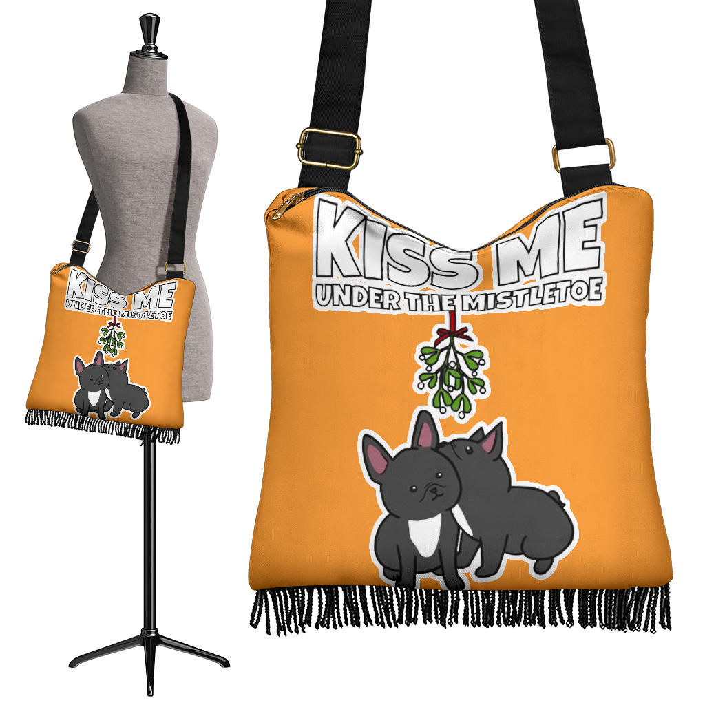 Cute Kiss Frenchie - French Bulldog Boho Handbag - frenchie Shop