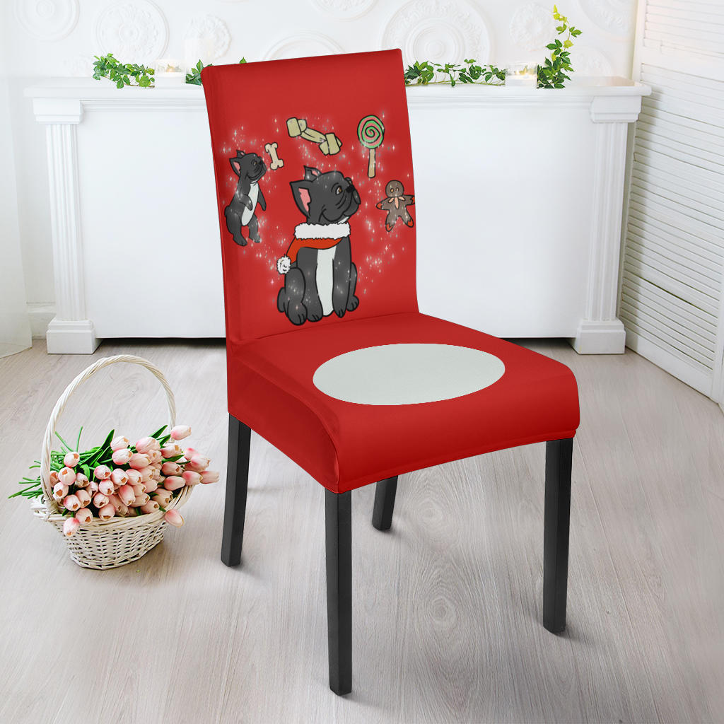 Christmas Magical Frenchie - French Bulldog Dining Chair - frenchie Shop