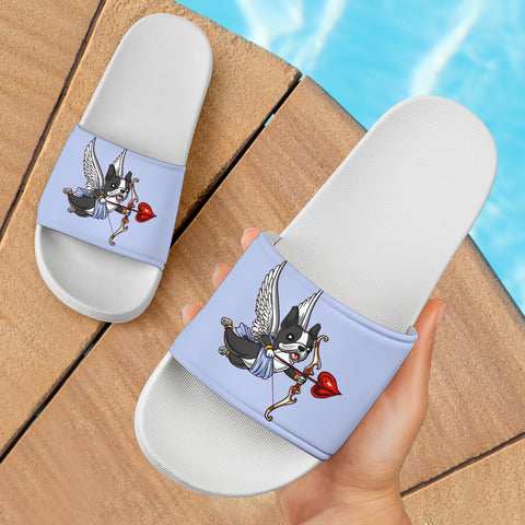 Funny Cupid Frenchie - French Bulldog Slide Sandals - frenchie Shop