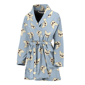Brown Head Frenchie - French Bulldog Bath Robe Women - frenchie Shop