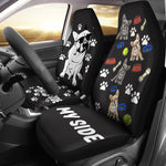 Frenchie's side - Car Seat covers - Frenchie Bulldog Shop