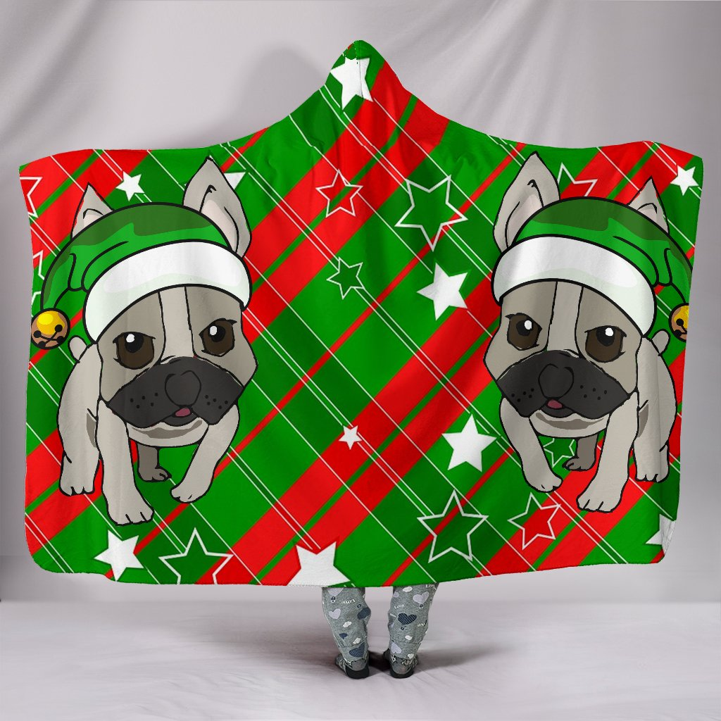 French Bulldog Elf Hat Christmas Blanket - frenchie Shop