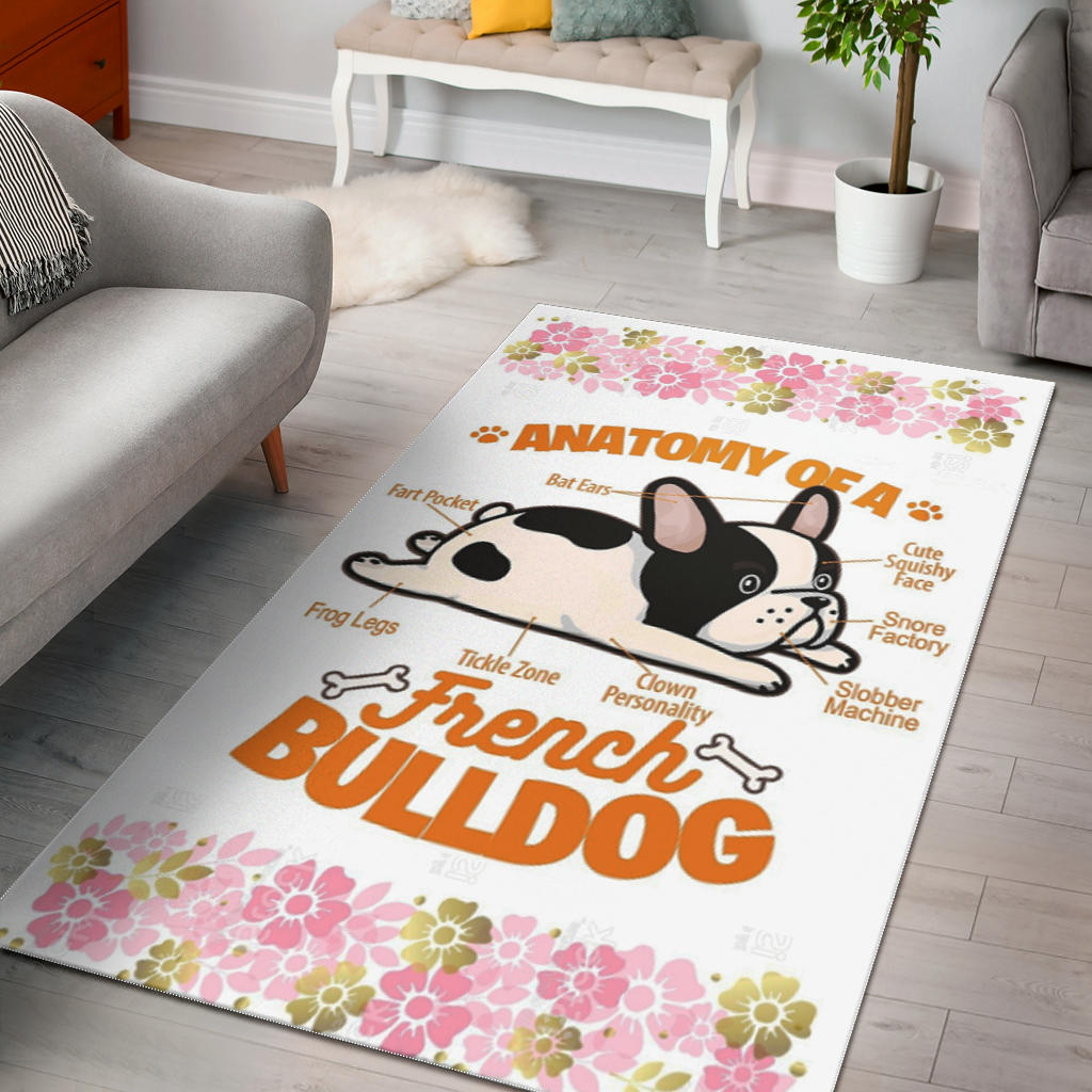 Funny Anatomy of Frenchie - French Bulldog Rug - frenchie Shop