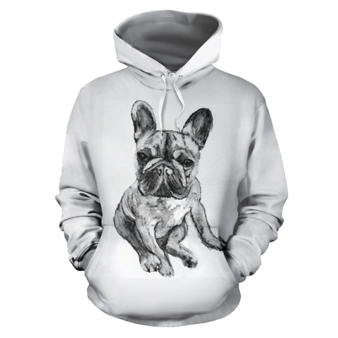 Sketched Frenchie - French Bulldog Hoodie - frenchie Shop