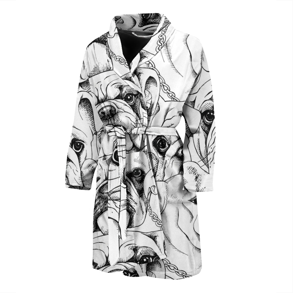 Billy - Bathrobe for men - Frenchie Bulldog Shop