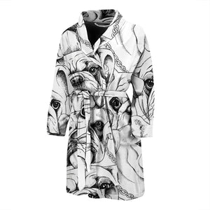 Cool Sketch Frenchie - French Bulldog Bath Robe Men - frenchie Shop