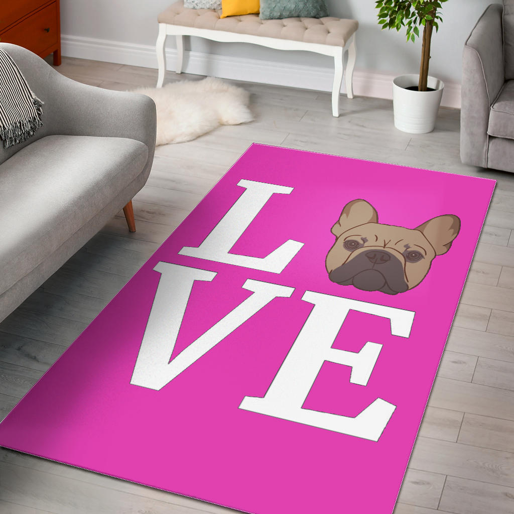 LOVE Frenchie - French Bulldog Rug - frenchie Shop