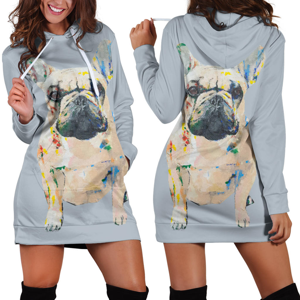 Frenchie Brown - French Bulldog Women Hoodies - frenchie Shop