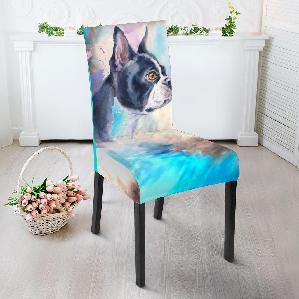 Abstract Painting Frenchie - French Bulldog Dining Chair - frenchie Shop