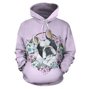 Flower Frenchie - French Bulldog Hoodie - frenchie Shop
