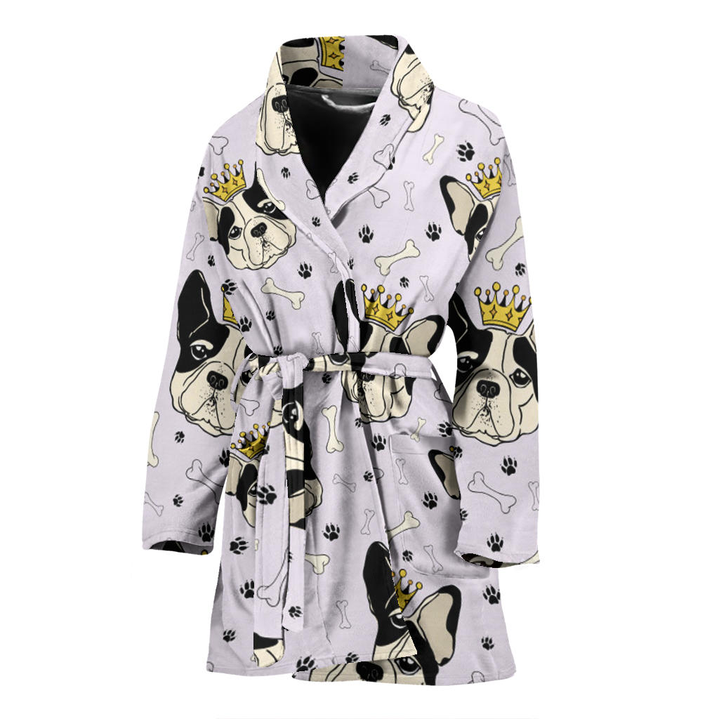 Milo - Bathrobe for women - Frenchie Bulldog Shop