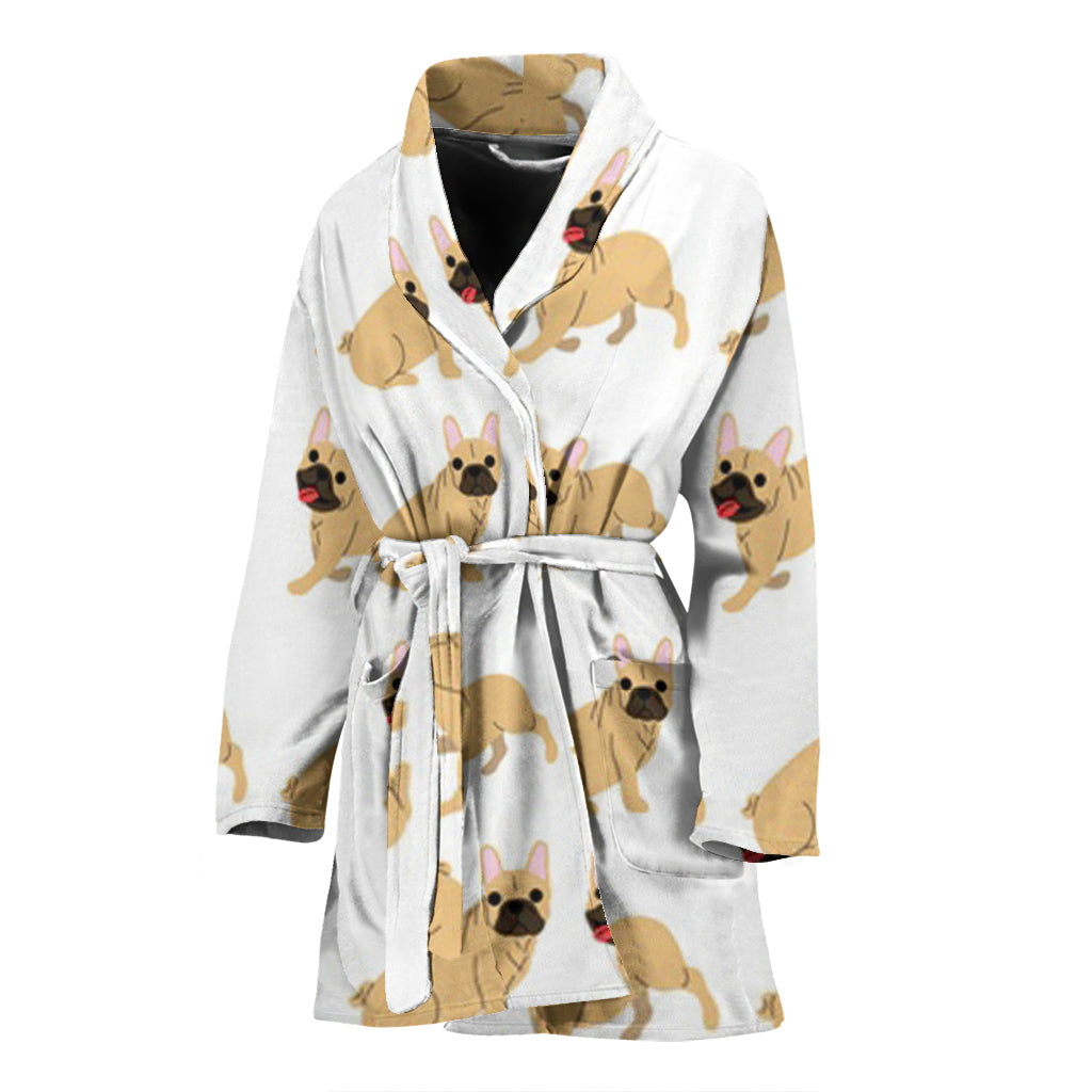 Funny Brown Frenchie - French Bulldog Bath Robe Women - frenchie Shop