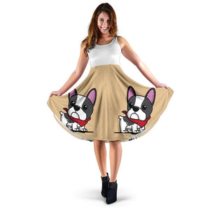 Frenchie Brown Cute - French Bulldog Women Dress - frenchie Shop
