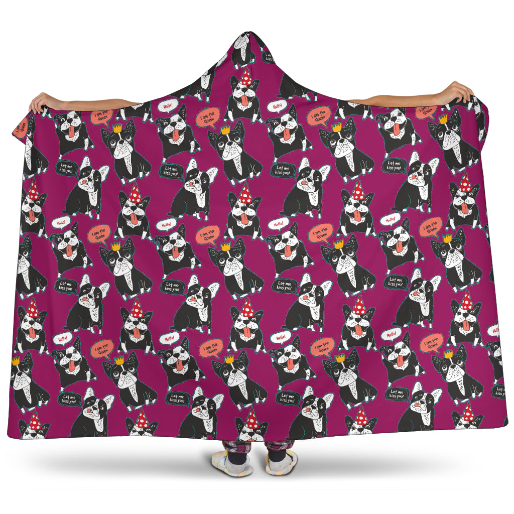 Daisy French Bulldog hooded Blanket - Frenchie Bulldog Shop