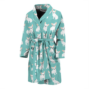 Funny Cute White Frenchie - French Bulldog Bath Robe Men - frenchie Shop