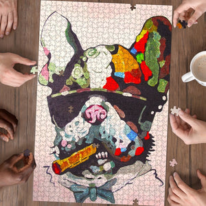 Frenchie Art - Premium wood Puzzle - Frenchie Bulldog Shop