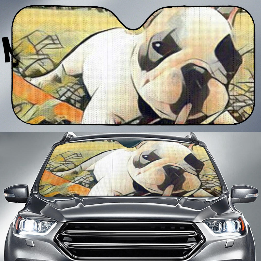 Abstract Frenchie - French Bulldog Auto Sun Shades - frenchie Shop