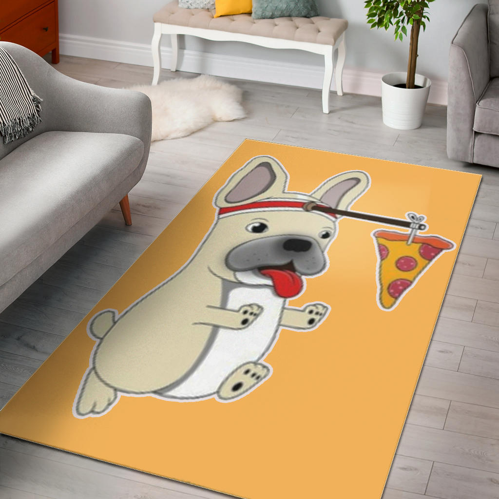 Funny Pizza Frenchie - French Bulldog Rug - frenchie Shop
