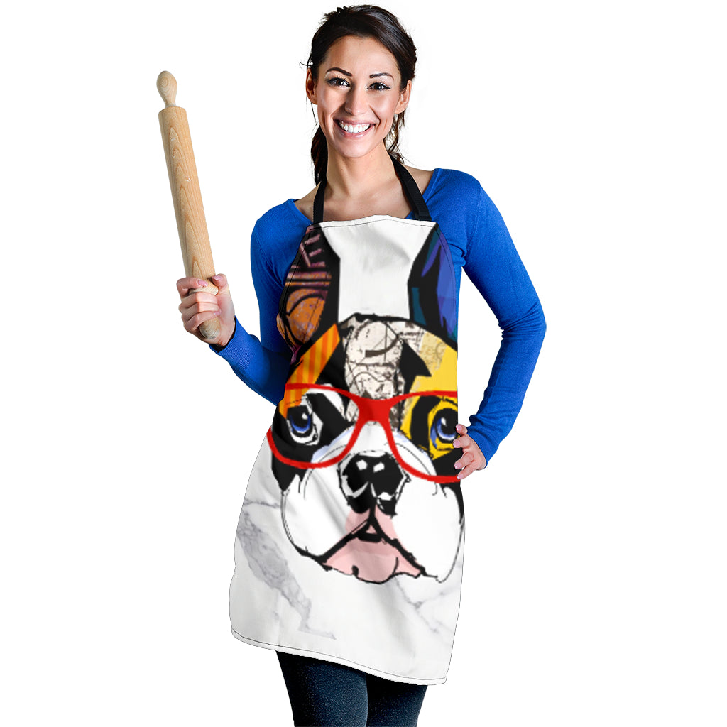 Cool Colorful Frenchie - French Bulldog Women Apron - frenchie Shop