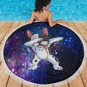 Dabbing Frenchie - French Bulldog Beach Blanket