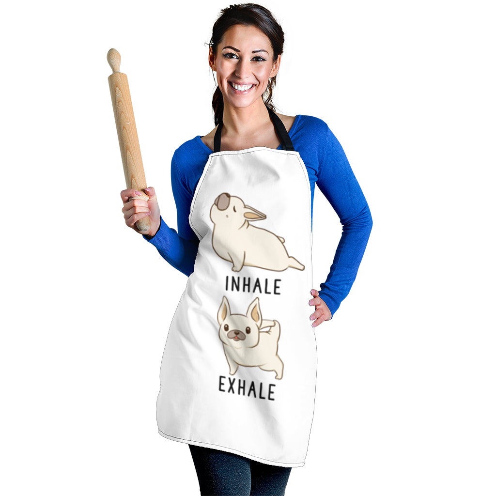 Funny Yoga Frenchie - French Bulldog Women Apron - frenchie Shop