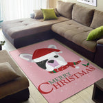Merry Christmas Frenchie - French Bulldog Rug - frenchie Shop