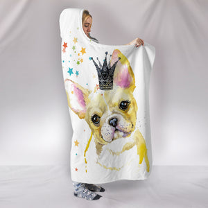 Frenchie Queen - French Bulldog Hooded Blanket - frenchie Shop
