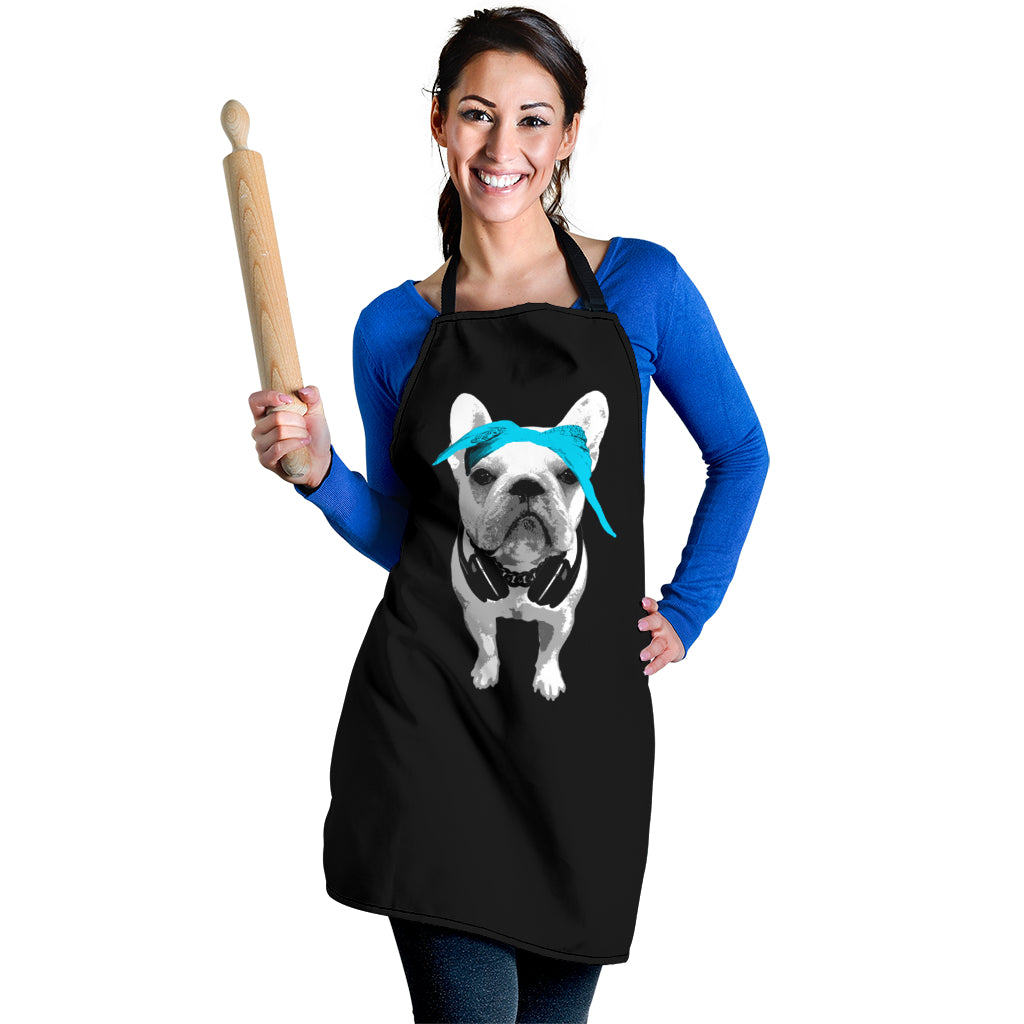 Music Lover Frenchie - French Bulldog Women Apron - frenchie Shop