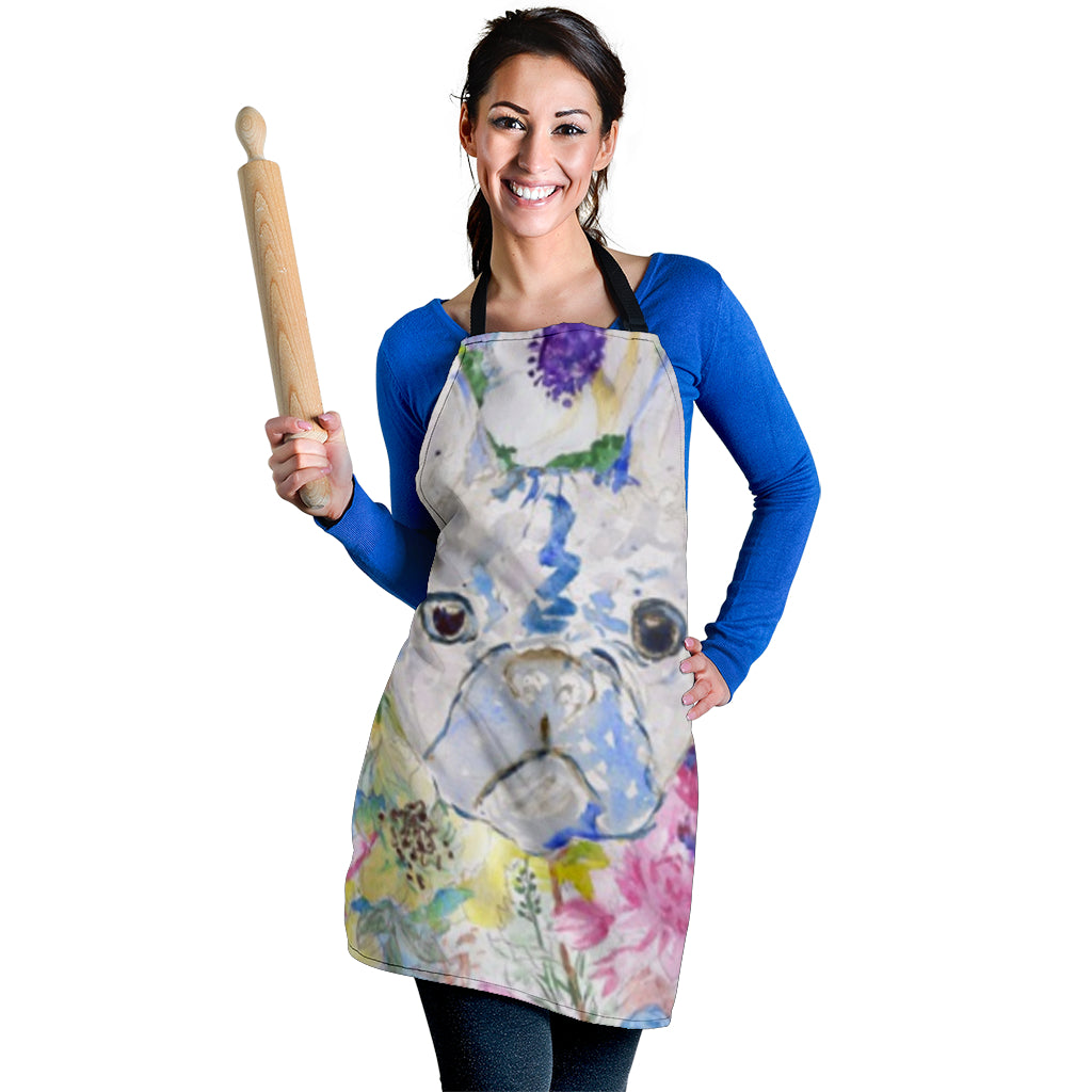 Painting Frenchie - French Bulldog Women Apron - frenchie Shop