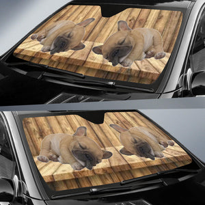 Sleeping Frenchie - French Bulldog Auto Sun Shades - frenchie Shop