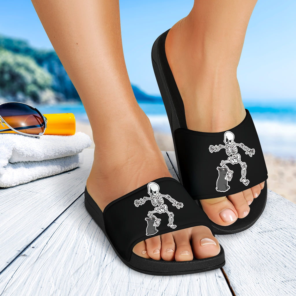 Funny Halloween Frenchie - French Bulldog Slide Sandals - frenchie Shop