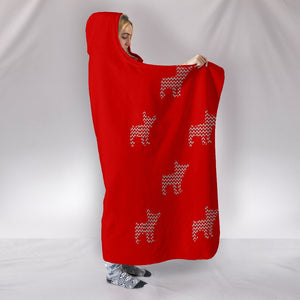 French Bulldog Sweater Knitting Christmas Blanket - frenchie Shop