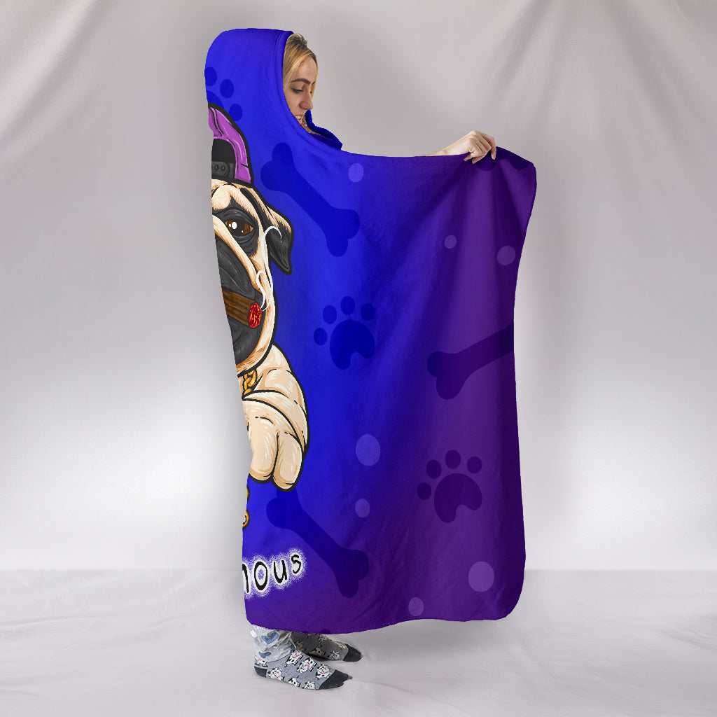 Pug Famous Hooded Blanket - frenchie Shop