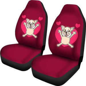 French Bulldog Cute with Heart Valentines Day