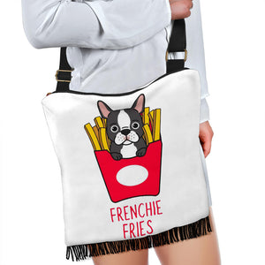 Funny Fries Frenchie - French Bulldog Boho Handbag - Frenchie Bulldog Shop
