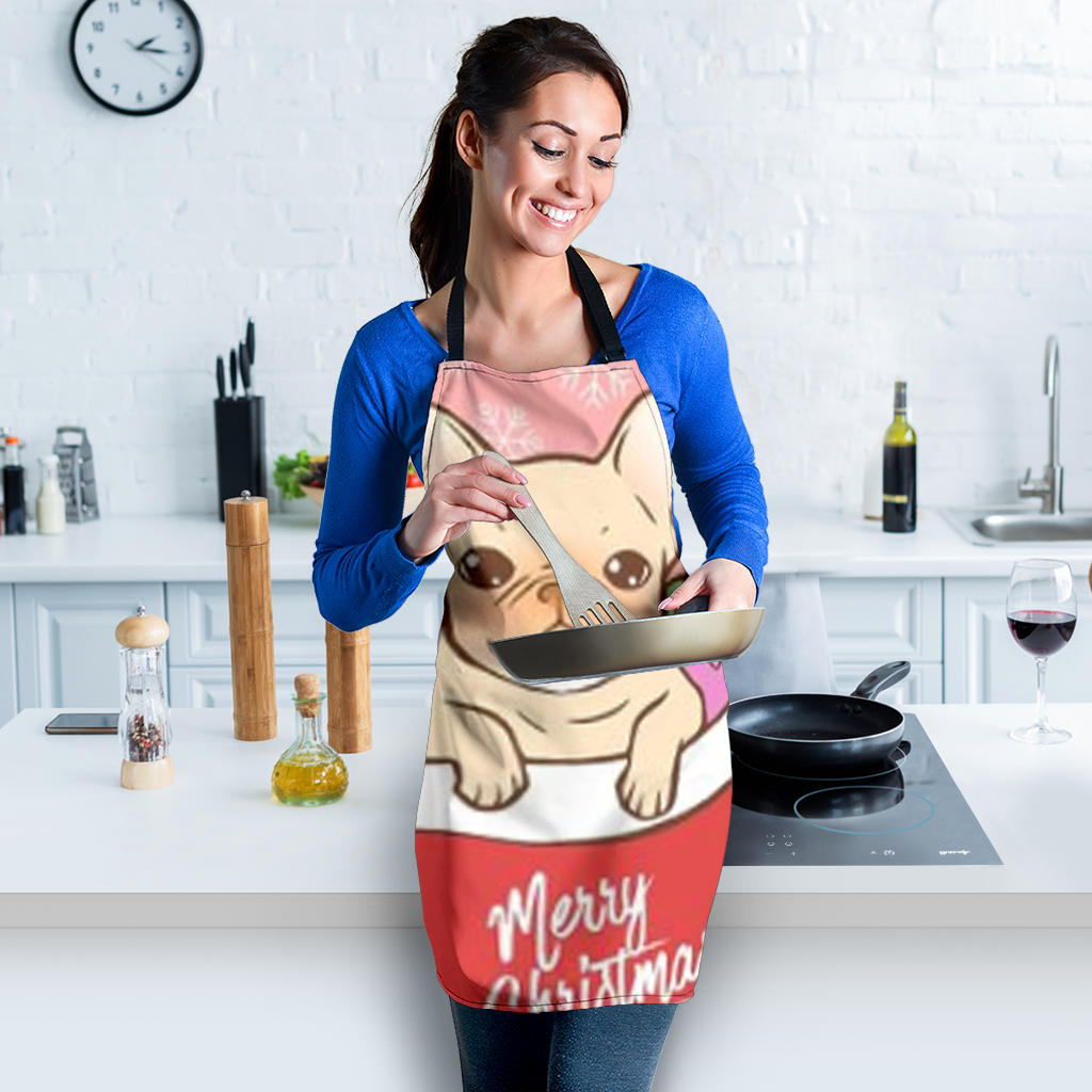 Merry Christmas Frenchie - French Bulldog Women Apron - frenchie Shop