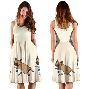 Mia - Women Dress - Frenchie Bulldog Shop