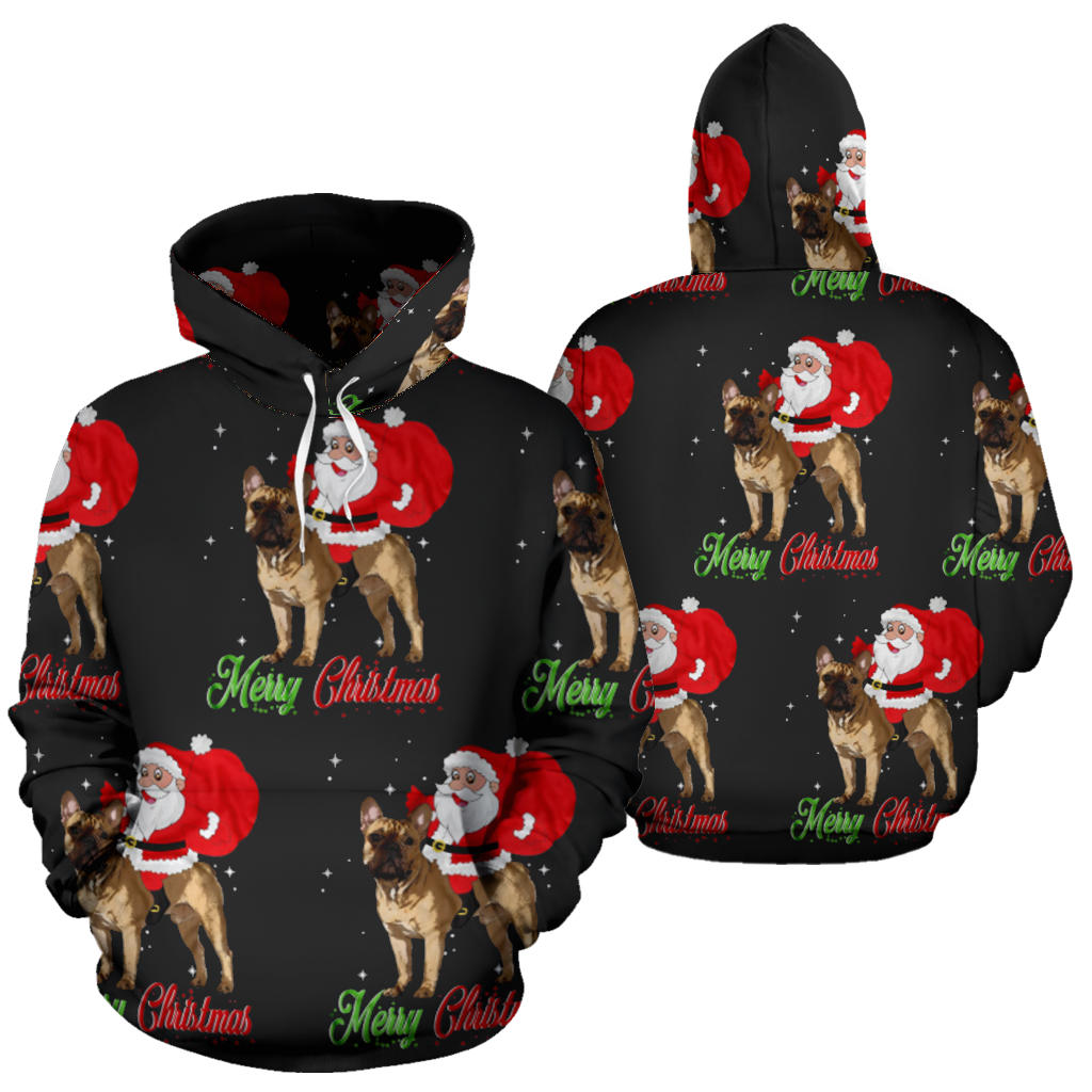 Funny Santa with Frenchie - French Bulldog Hoodie - Frenchie Bulldog Shop