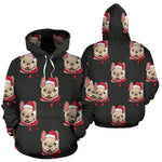 Christmas Santa Frenchie - French Bulldog Hoodie - frenchie Shop