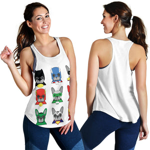 Funny Heroes Frenchie - French Bulldog Tank Top Women - frenchie Shop