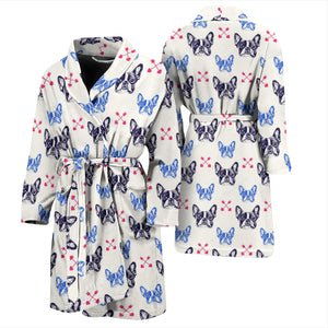 Funny King Frenchie - French Bulldog Bath Robe Men - frenchie Shop