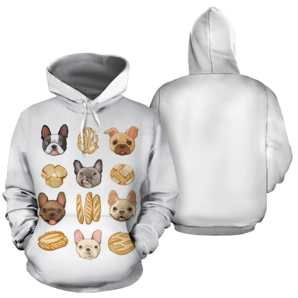 Bread Frenchie - French Bulldog Hoodie - frenchie Shop