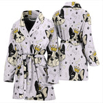 Funny King Frenchie - French Bulldog Bath Robe Women - frenchie Shop