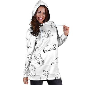 Frenchie Modes - French Bulldog  Women Hoodie - frenchie Shop