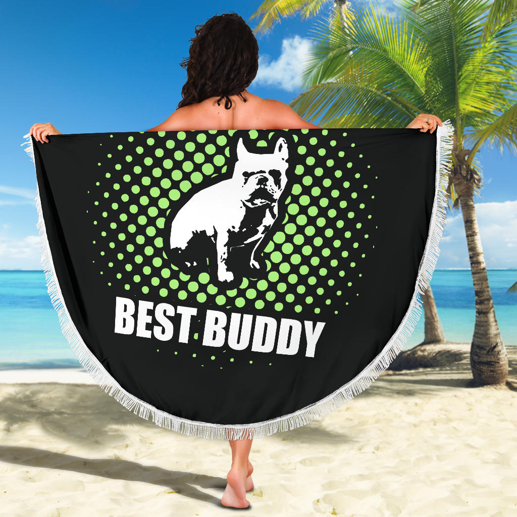 Best Buddy Frenchie - French Bulldog Beach Blanket