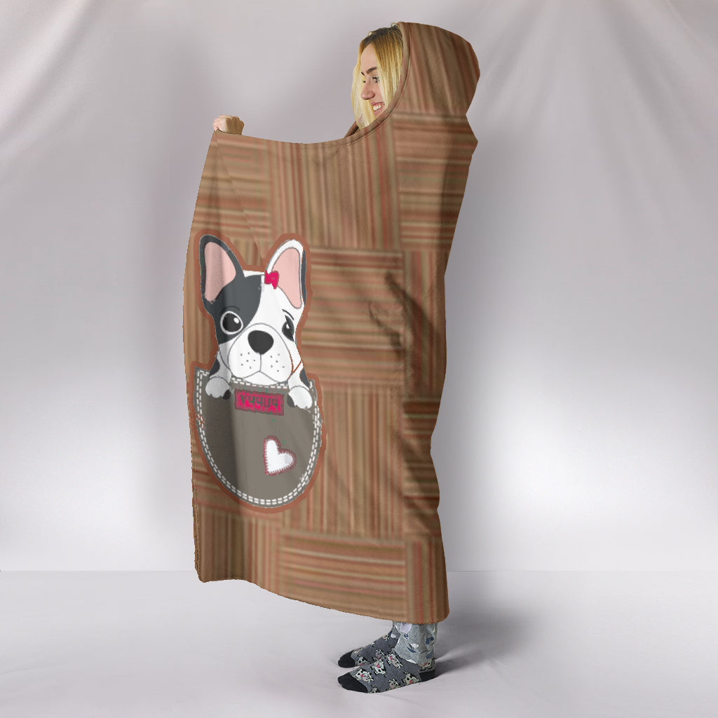 Frenchie Pocket - French Bulldog Hooded Blanket - frenchie Shop