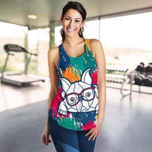 Painting Frenchie - French Bulldog Tank Top Women - frenchie Shop