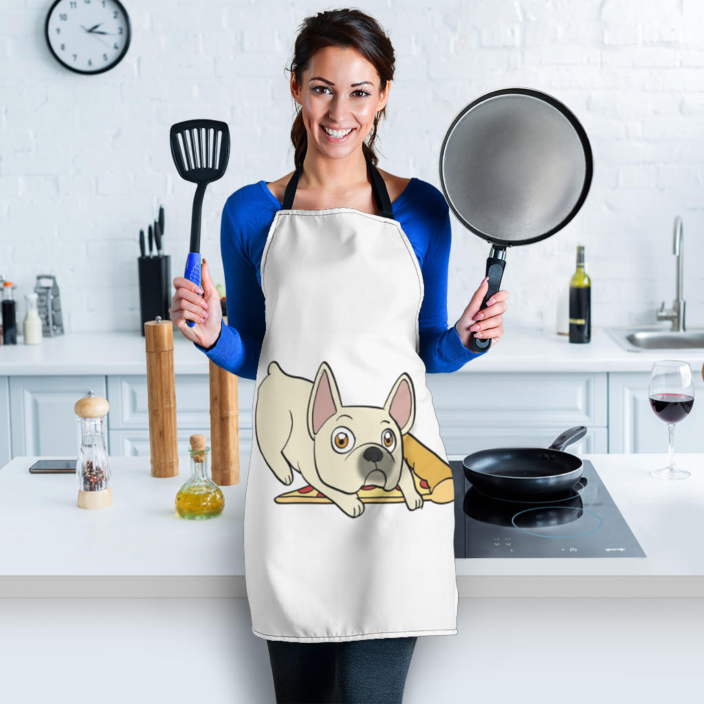 Pizza with Frenchie - French Bulldog Women Apron - frenchie Shop