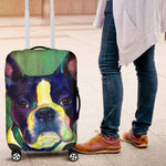 painting frenchie 2 - Luggage Covers - frenchie Shop