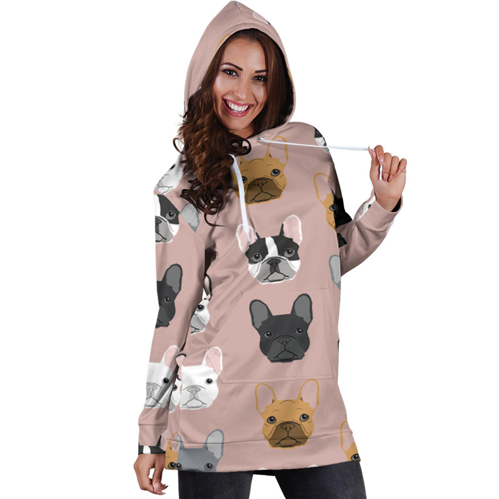 Frenchie Many - French Bulldog Women Hoodies